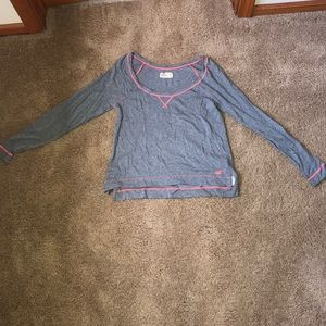 Hollister gray with pink detailing long sleeve